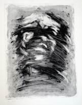 Portrait, monoprint, 38 x 28 cm