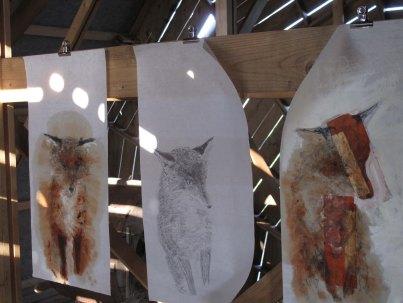 trois renards au moulin
